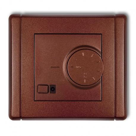 Karlik FLEXI Elektroniczny regulator temperatury z czujnikiem podpodłogowym brązowy metalik 9FRT-1