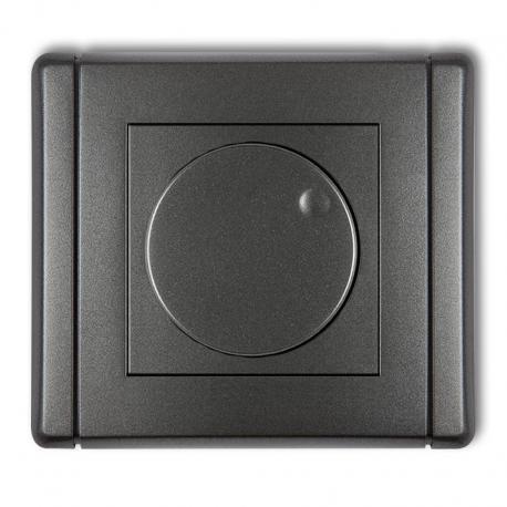 Karlik FLEXI Elektroniczny regulator oświetlenia przyciskowo-obrotowy do lamp LED grafitowy 11FRO-2
