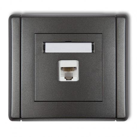 Gniazdo komputerowe pojedyncze 1xRJ45, kat. 5e, ekranowane, 8-stykowe