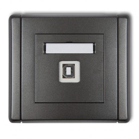 Karlik Gniazdo pojedyncze USB-AB 2.0 FLEXI grafitowy