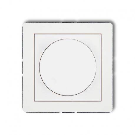Karlik DECO Mechanizm elektronicznego regulatora oświetlenia przyciskowo-obrotowego biały DRO-1