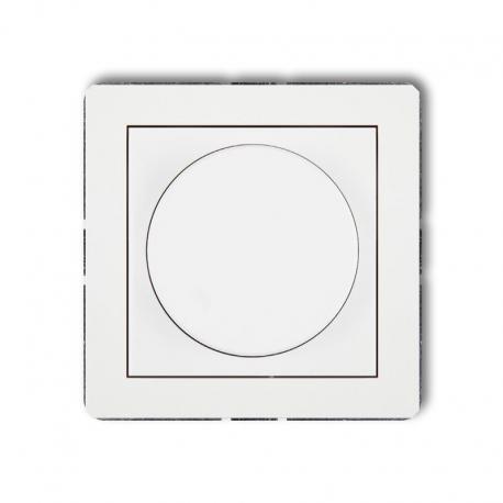 Karlik DECO Mechanizm elektronicznego regulatora oświetlenia przyciskowo-obrotowego do lamp LED biały DRO-2