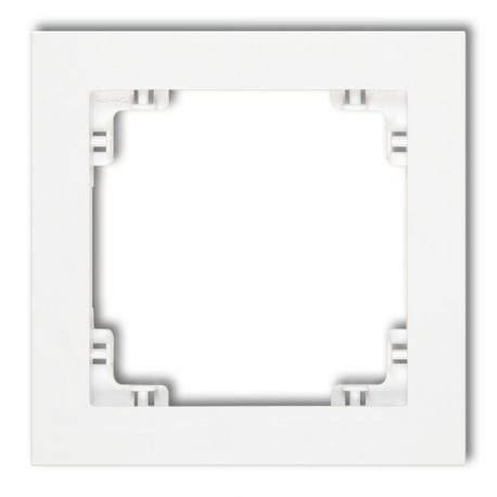 Karlik DECO Ramka uniwersalna pojedyncza z tworzywa biały DR-1