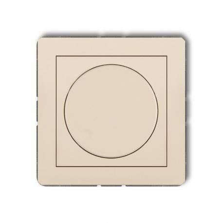 Karlik Mechanizm elektronicznego regulatora oświetlenia przyciskowo-obrotowego do lamp LED DECO beżowy