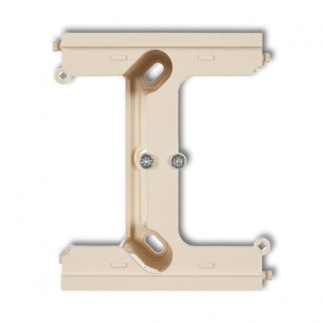 Karlik Moduł rozszerzający puszkę natynkową pojedynczą, składaną do ramek wielokrotnych DECO DECO beżowy