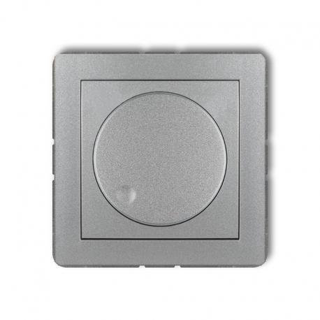 Karlik DECO Mechanizm elektronicznego regulatora oświetlenia przyciskowo-obrotowego srebrny metalik 7DRO-1