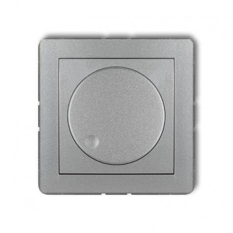 Karlik Mechanizm elektronicznego regulatora oświetlenia przyciskowo-obrotowego do lamp LED DECO srebrny metalik
