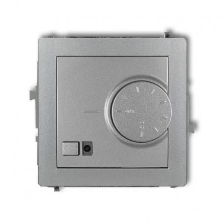 Karlik DECO Mechanizm elektronicznego regulatora temperatury z czujnikiem podpodłogowym srebrny metalik 7DRT-1