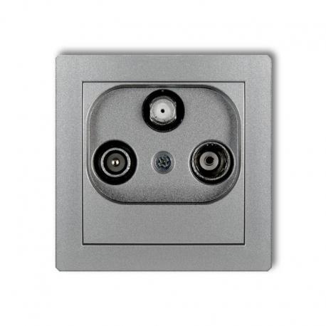 Karlik DECO Mechanizm gniazda abonenckiego RTV-SAT końcowego multimedialnego (Internet) srebrny metalik 7DGM