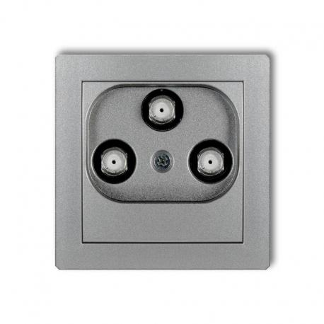 Karlik DECO Mechanizm gniazda multimedialnego 3F DATA (UPC) srebrny metalik 7DGMU