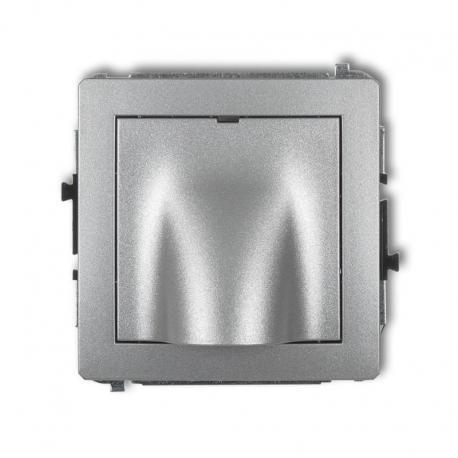Karlik DECO Mechanizm wypustu kablowego srebrny metalik 7DWPK