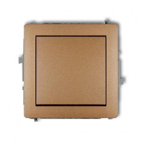 Karlik DECO Mechanizm łącznika zwiernego, jednobiegunowego (jeden klawisz, bez piktogramu) złoty metalik 8DWP-4.1