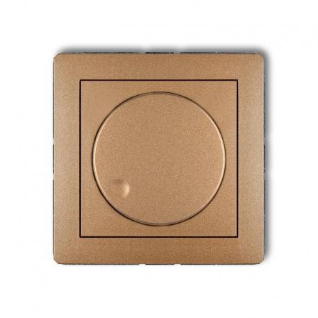 Karlik Mechanizm elektronicznego regulatora oświetlenia przyciskowo-obrotowego do lamp LED DECO złoty metalik