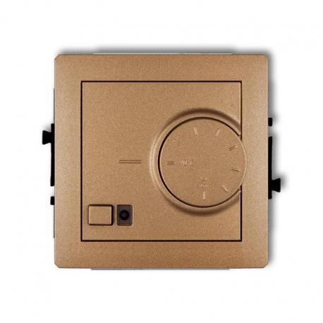 Karlik DECO Mechanizm elektronicznego regulatora temperatury z czujnikiem podpodłogowym złoty metalik 8DRT-1