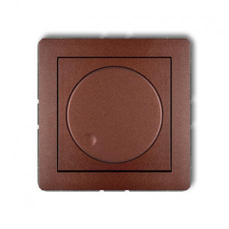 Karlik Mechanizm elektronicznego regulatora oświetlenia przyciskowo-obrotowego do lamp LED DECO brązowy metalik
