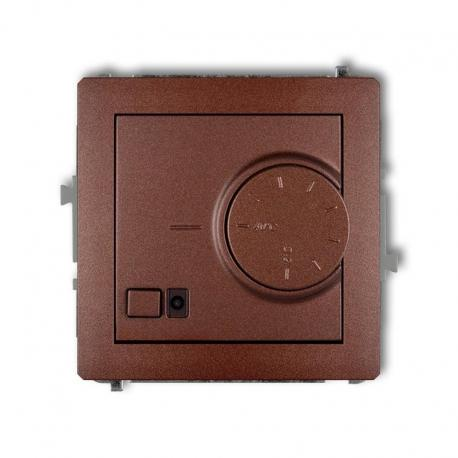 Karlik DECO Mechanizm elektronicznego regulatora temperatury z czujnikiem podpodłogowym brązowy metalik 9DRT-1