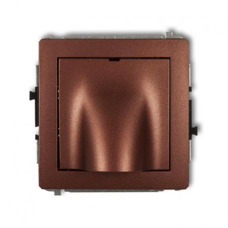 Karlik DECO Mechanizm wypustu kablowego brązowy metalik 9DWPK
