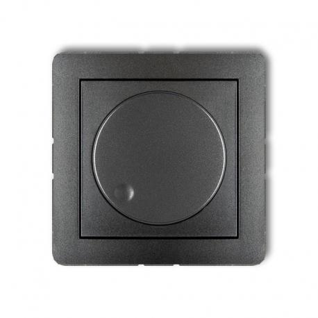 Karlik Mechanizm elektronicznego regulatora oświetlenia przyciskowo-obrotowego do lamp LED DECO grafitowy