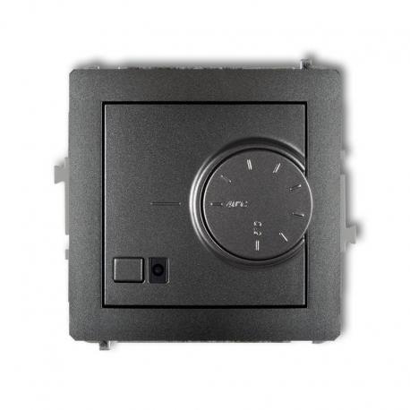 Karlik DECO Mechanizm elektronicznego regulatora temperatury z czujnikiem podpodłogowym grafitowy 11DRT-1