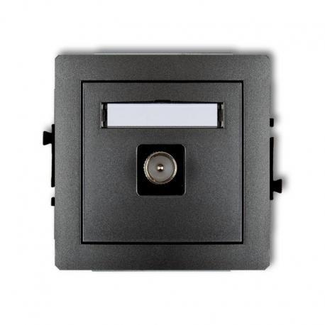 Karlik Mechanizm gniazda antenowego pojedynczego TV DECO grafitowy