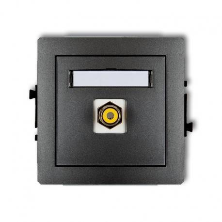 Karlik Mechanizm gniazda pojedynczego RCA (typu cinch - żółty, pozłacany) DECO grafitowy