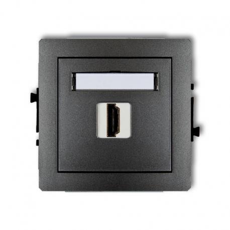 Karlik Mechanizm gniazda pojedynczego HDMI DECO grafitowy