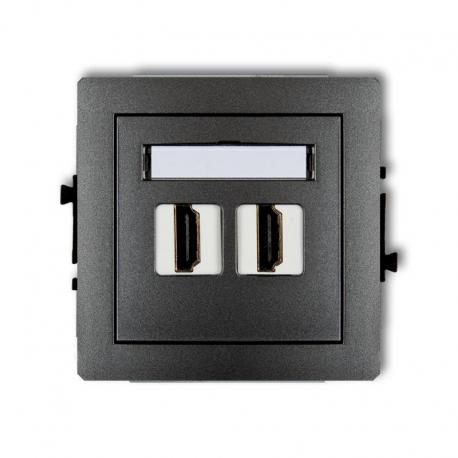 Karlik Mechanizm gniazda podwójnego HDMI DECO grafitowy