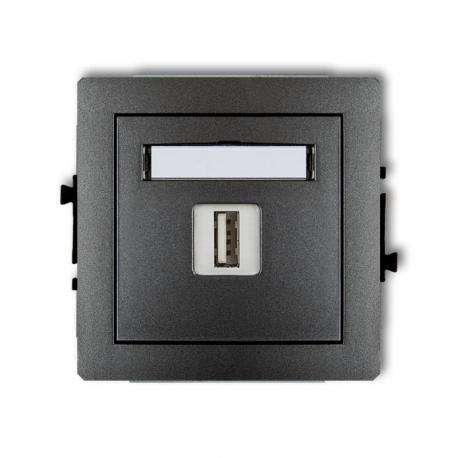 Karlik Mechanizm ładowarki USB pojedynczej, 5V, 1A DECO grafitowy