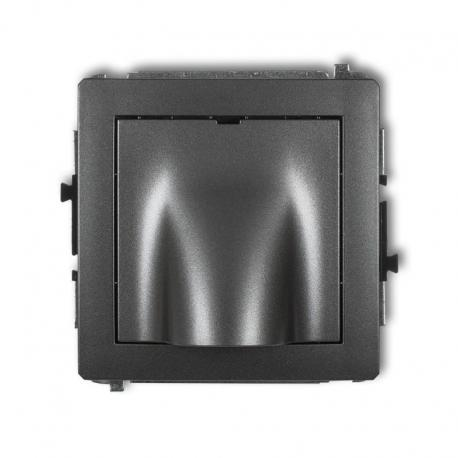 Karlik Mechanizm wypustu kablowego DECO grafitowy