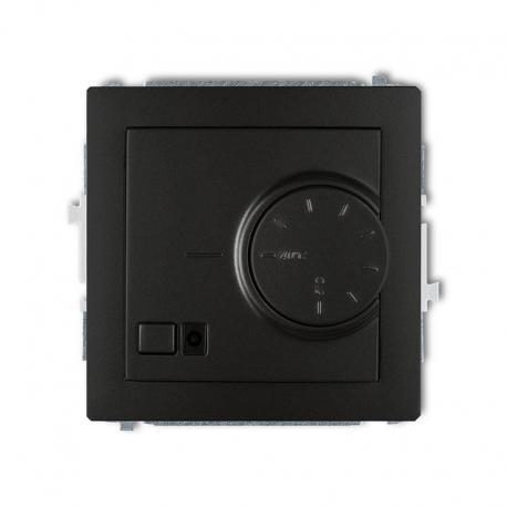 Karlik DECO Mechanizm elektronicznego regulatora temperatury z czujnikiem podpodłogowym czarny mat 12DRT-1