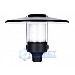 Lampa parkowa Intelight Promenad LED 30W czarny/przezroczysty 4000K
