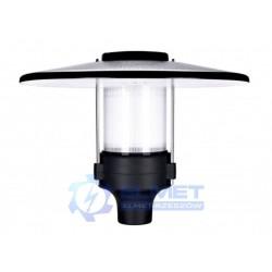 Lampa parkowa Intelight Promenad LED 30W czarny/przezroczysty 4000K asymetryczna