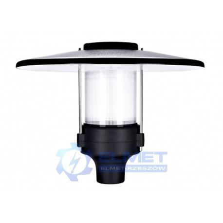 Lampa parkowa Intelight Promenad LED 40W czarny/przezroczysty + Decor Blue 4000K