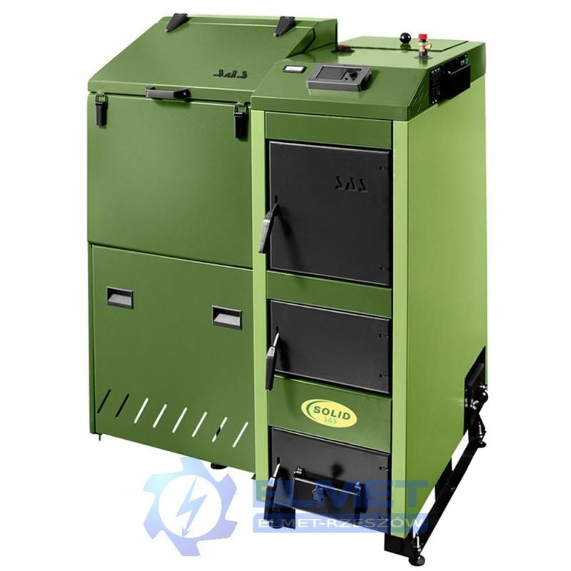 Kocioł SAS SOLID 25 kW z podajnikiem na eko-groszek