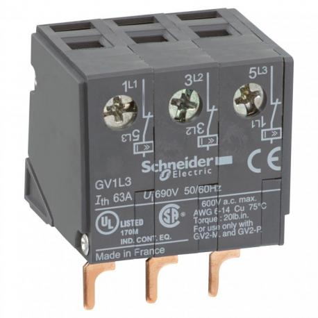 Ogranicznik prądowy montowany od góry 63-1500A GV1L3