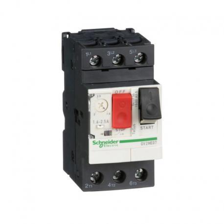 Wyłącznik silnikowy GV2ME napęd przyciskowy 1,6-2,5A zaciski skrzynkowe