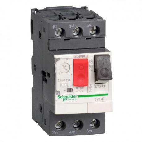 Wyłącznik silnikowy GV2ME napęd przyciskowy 2,5-4A zaciski skrzynkowe