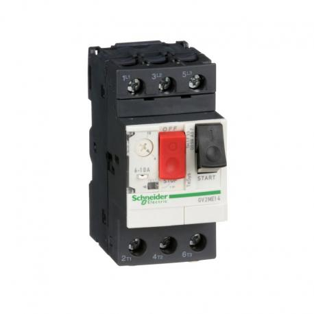 Wyłącznik silnikowy GV2ME napęd przyciskowy 6-10A zaciski skrzynkowe