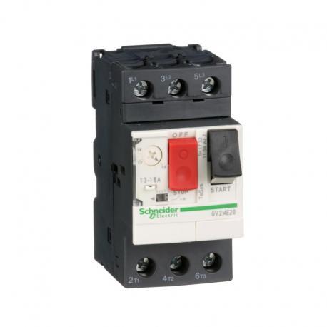 Wyłącznik silnikowy GV2ME napęd przyciskowy 13-18A zaciski skrzynkowe