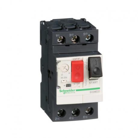 Wyłącznik silnikowy GV2ME napęd przyciskowy 20-25A zaciski skrzynkowe