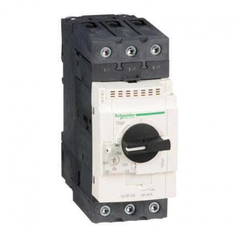 Wyłącznik silnikowy magnetyczny TeSys GV3L napęd obrotowy 65A zaciski skrzynkowe