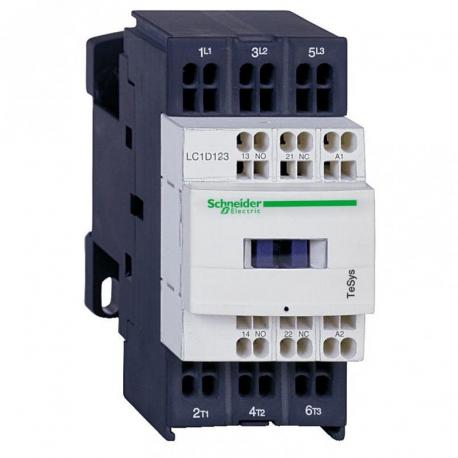 Stycznik mocy TeSys D AC3 9A 3P 1NO 1NC cewka 220VDC zaciski sprężynowe