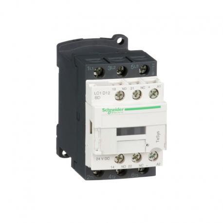 Stycznik mocy TeSys D AC3 12A 3P 1NO 1NC cewka 24VDC