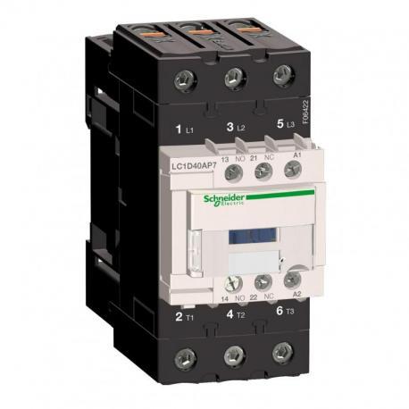 Stycznik mocy TeSys D 40A 3P 1NO 1NC cewka 230VAC zaciski EVK skrzynkowe