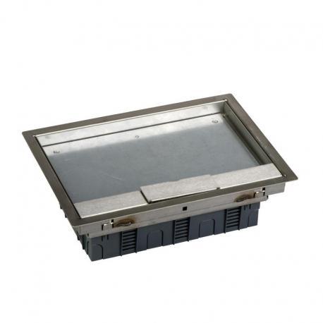 Optiline 45 - Altira metalowa puszka podłogowa z gniazdami zasilającymi - 6 mod.