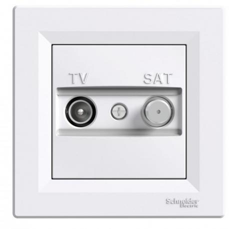 Asfora - Gniazdo TV-SAT końcowe (1dB) biały