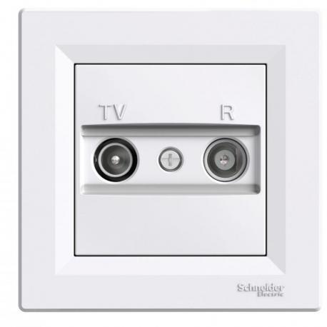 Asfora - Gniazdo RTV końcowe (1dB) biały