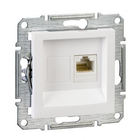 Asfora - Gniazdo komputerowe RJ45 kat.5e UTP biały