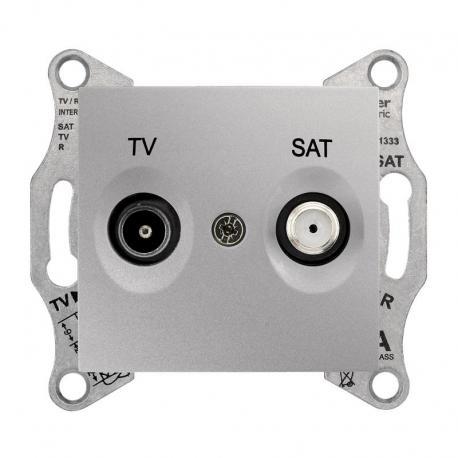 Sedna - Gniazdo TV/SAT przelotowe (4dB) aluminium