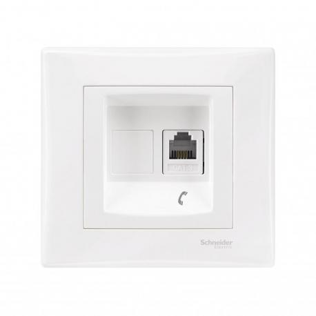Sedna - Gniazdo telefoniczne RJ11 (DIY) biały
